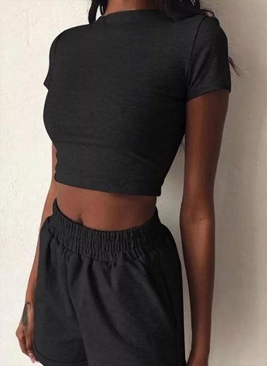 Fashion Tayt Eşofman Takım Siyah